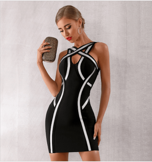 Amore French Style Dress Black