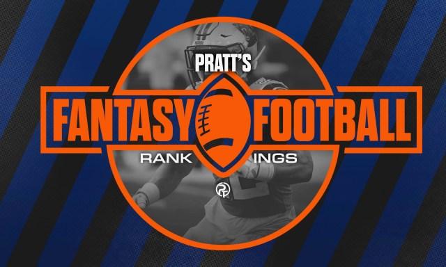 Pratt's Fantasy Rankings