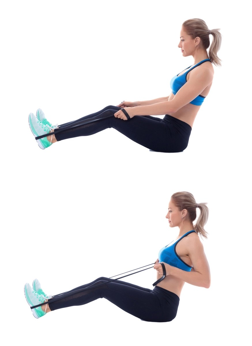 Resistance band seated row