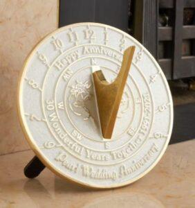 Wedding Anniversary Sundial Gift