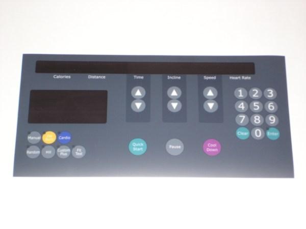 Life Fitness 9500 Next Gen Center Display Overlay