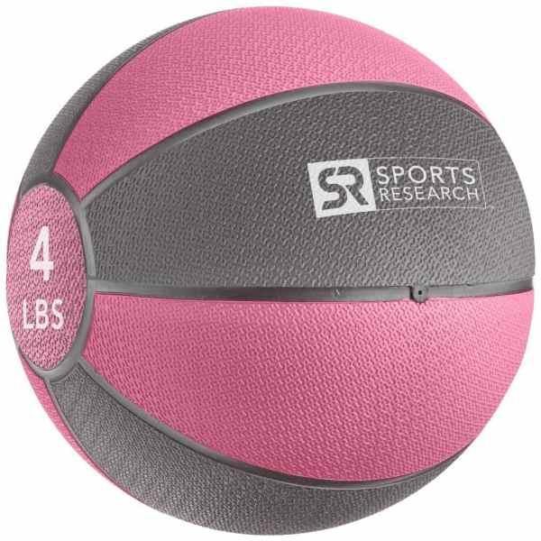 Sports Research Medicine Ball 4 lb - Pink