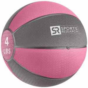 Sports Research Medicine Ball 4 lb - Pink