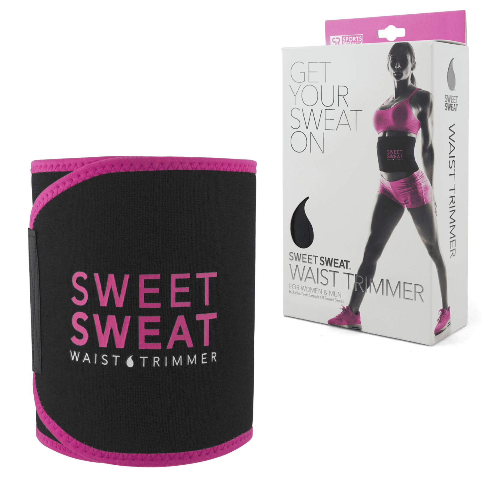 3f275621f5 Sports Research Sweet Sweat Waist Trimmer M - Pink - Primo Fitness