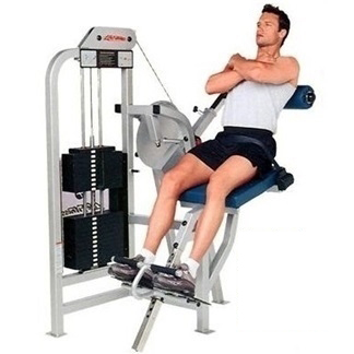 Life Fitness Pro1 Low Back Extension - Clear/Black