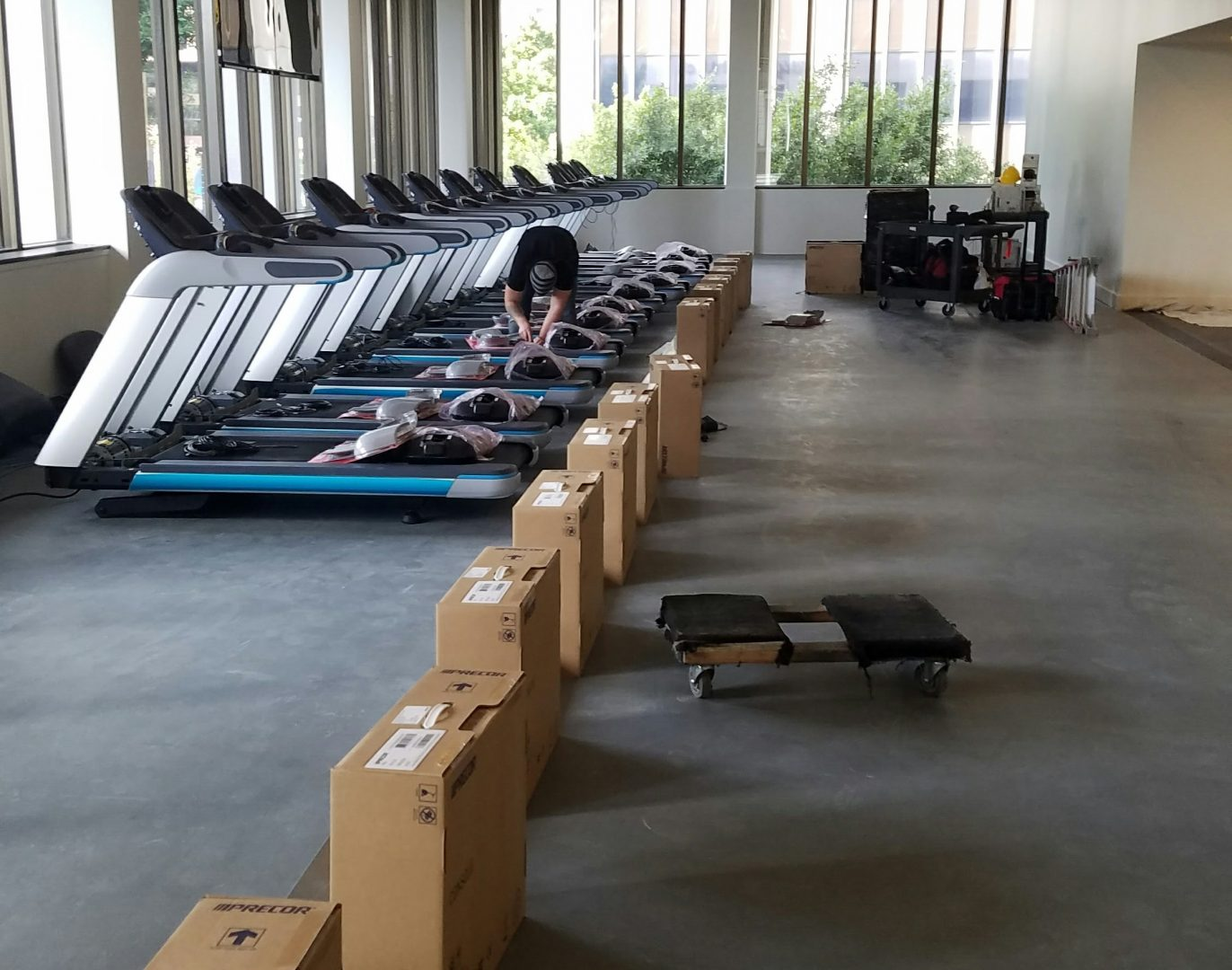 Gym equipment delivery and installation primo fitness