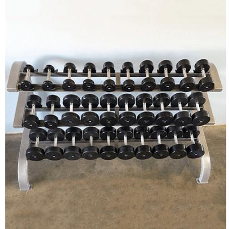Modular Three Tier 15 Pairs Dumbbell Rack