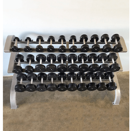 Modular Three Tier 15 Pairs Dumbbell Rack