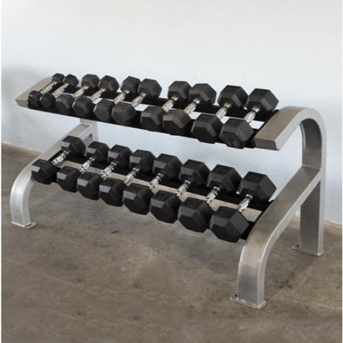 Modular Two Tier Hex Dumbbell Rack (Short)