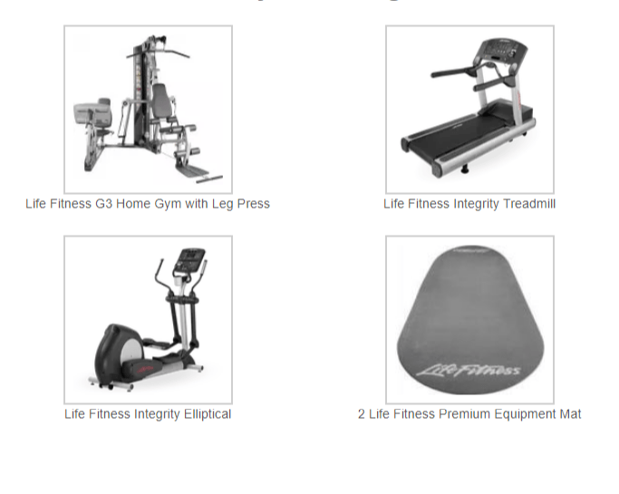 Life Fitness Home Gym Package $4,799