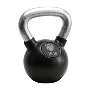 30LB American Barbell Rubber Kettle Bell With Chrome Handle