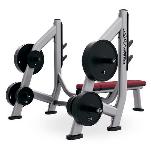 Life Fitness Olympic Weight Bench Storage