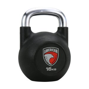 16KG American Barbell Urethane Competition Kellebell With Brushed Hard Chrome Handle