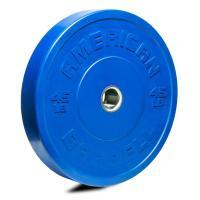 American Barbell Shield Bumper Plate Blue