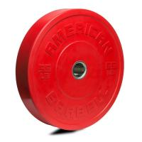 American Barbell Shield Bumper Plate Red