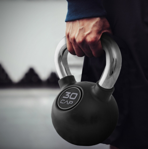 CAP Rubber Coated Kettlebells with Handle Bars