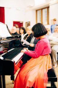Piano Pupil performs at the Annual Recital