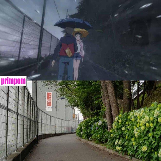Lugares de Tokyo existe en anime y vida real