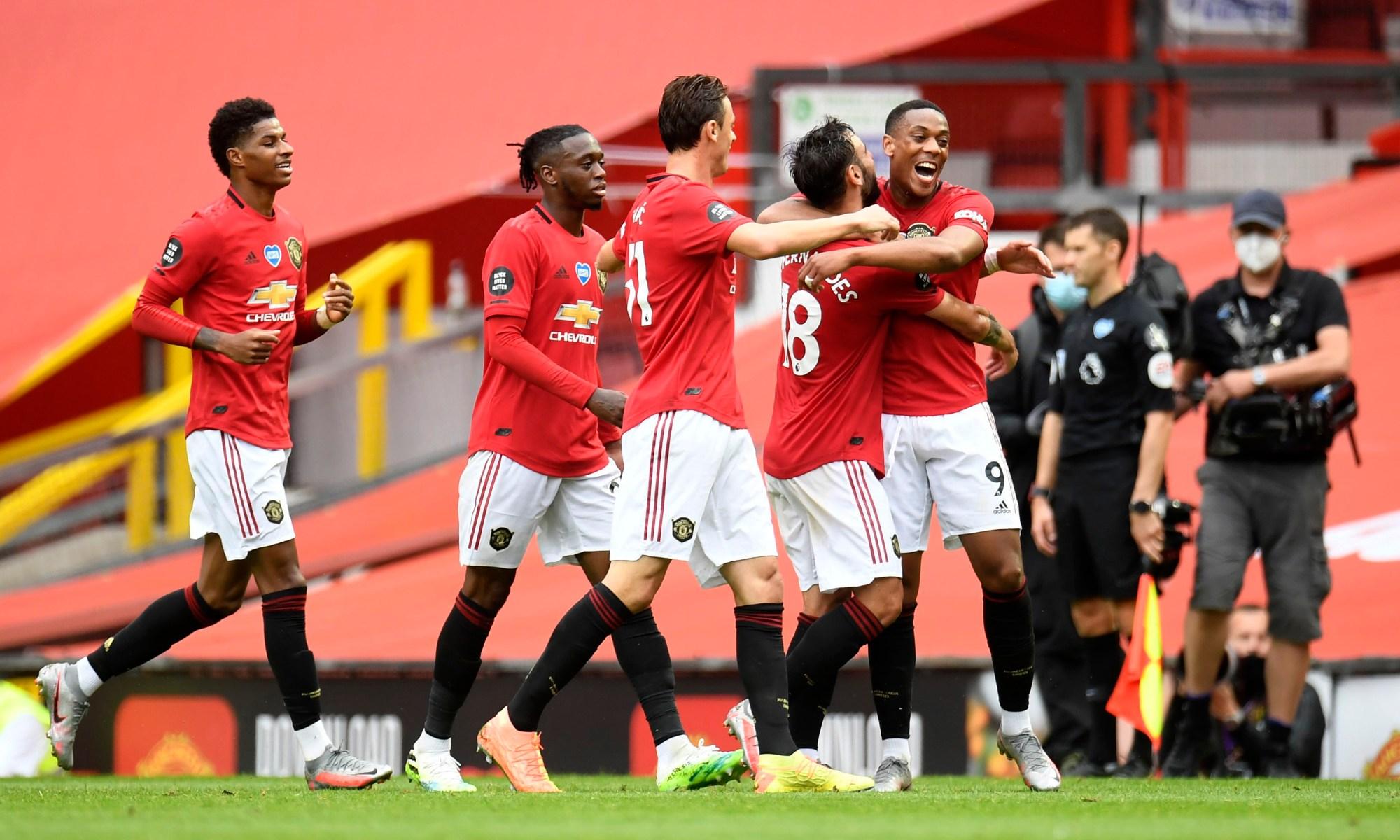 Jucătorii lui Manchester United. Sursă foto: twitter.com