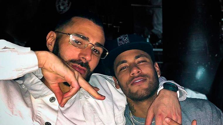 Benzema și NEymar. Sursă foto: Instagram Benzema