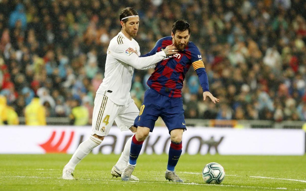 Sergio Ramos vs. Lionel Messi. Sursă foto: barcelona.com