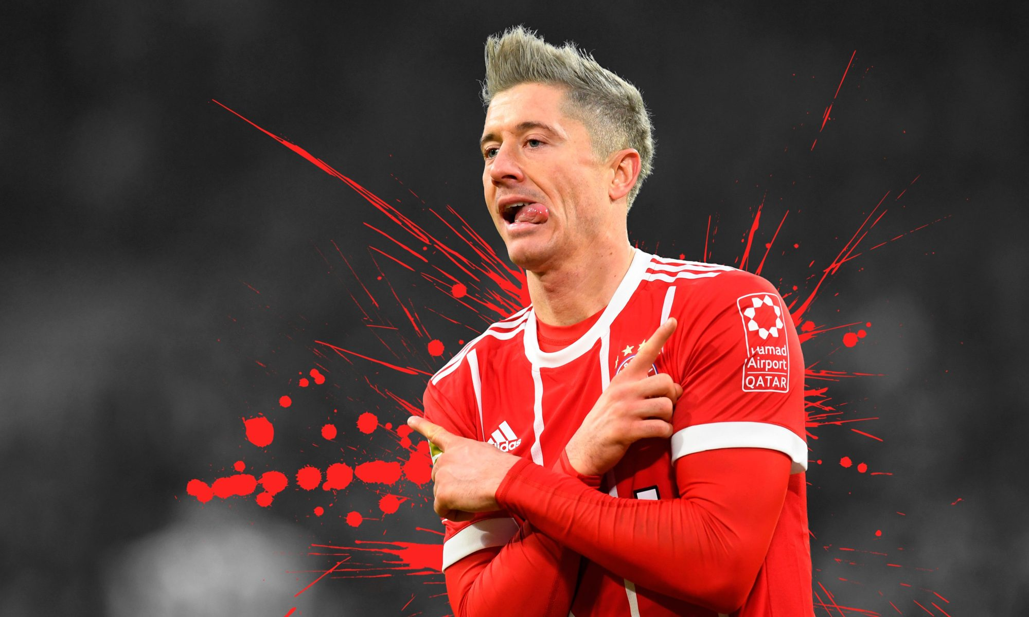 Robert Lewandowski. Sursă foto: wallpapercave.com