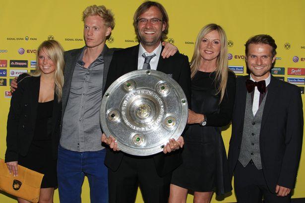 Jurgen Klopp, soția și copiii săi. Sursă foto: dailymirror.co.uk