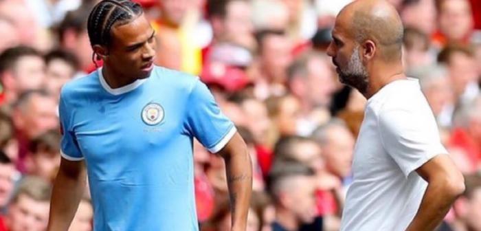 Sane a vorbit despre Guardiola. Sursă foto: goal.com