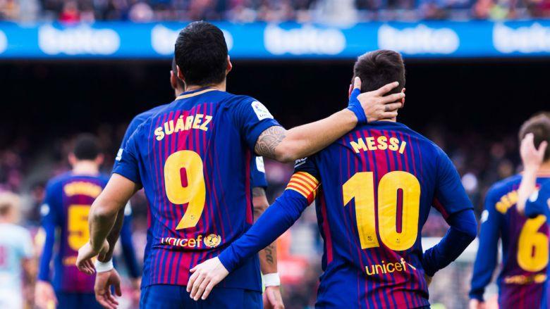 Lionel Messi și Luis Suarez. Sursă foto: goal.com