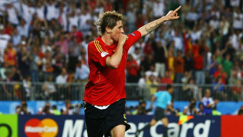 Fernando Torres în finala Campionatului European din 2008. Sursă foto: yahoosports.com