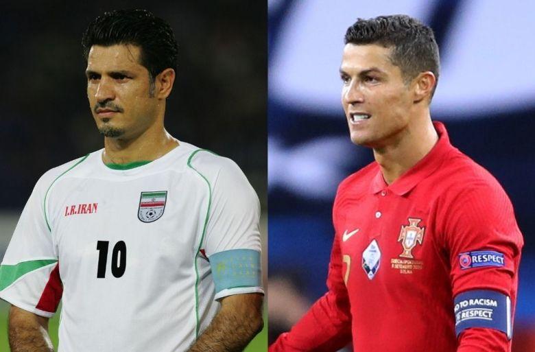 Ali Daei și Cristiano Ronaldo. Sursă foto: ronaldo.com