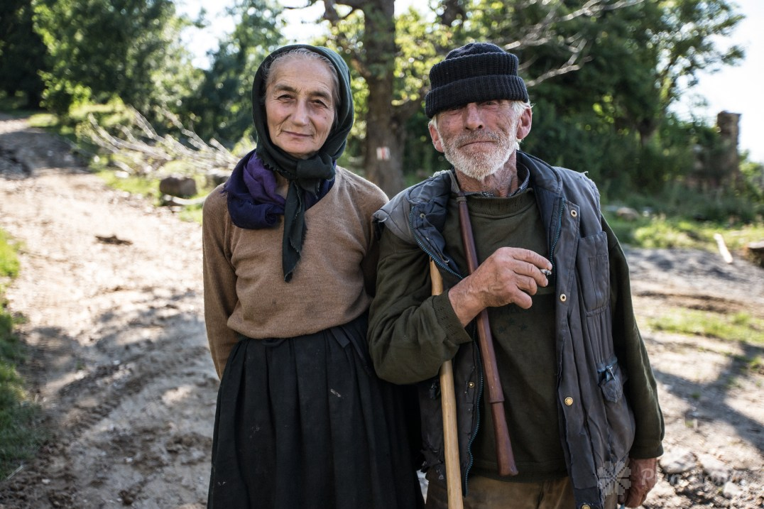 Mrs and Mr. Jurchescu from Poiana village
