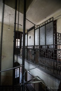 The old elevator from the Neptun Apartments Block