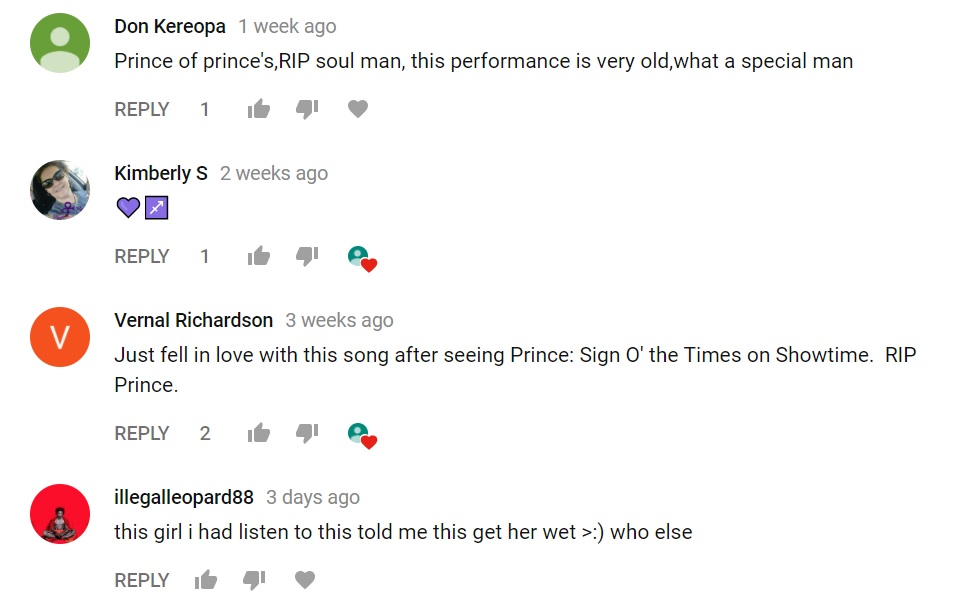 Slow Love Comments on Youtube