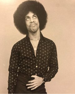 Young Prince Black and White Photo Dark Shirt & Pants Afro Princefan046