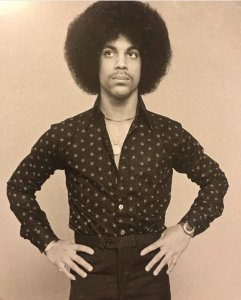 Young Prince Black and White Photo Dark Shirt & Pants Afro Princefan046