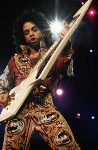 Prince Plays the Guitar During the Rock in Rio Concert January 19-27, 1991 Rio de Janeiro, Brazil Princefan046