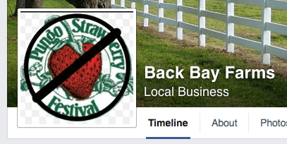 Back Bay Farms' Facebook page, as it appeared on Wednesday, May 27, 2015.