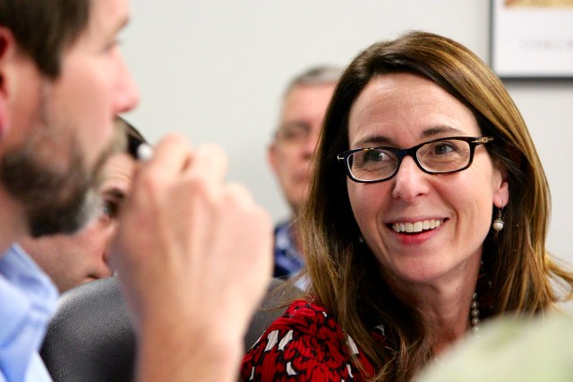 Jeryl Phillips, comprehensive planning coordinator for Virginia Beach, is seen her during one of the many meetings in the comprehensive plan update process over the past year. [File/The Princess Anne Independent News]