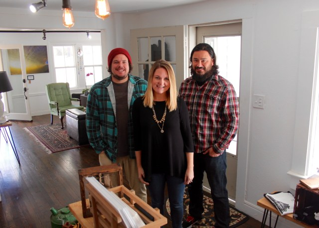 The owners — Eddie Compo, Kristine Compo and Anthony Pakingan — of The Tar Roof, a gallery, shopping and event venue that recently opened in Pungo. [John-Henry Doucette/The Princess Anne Independent News]