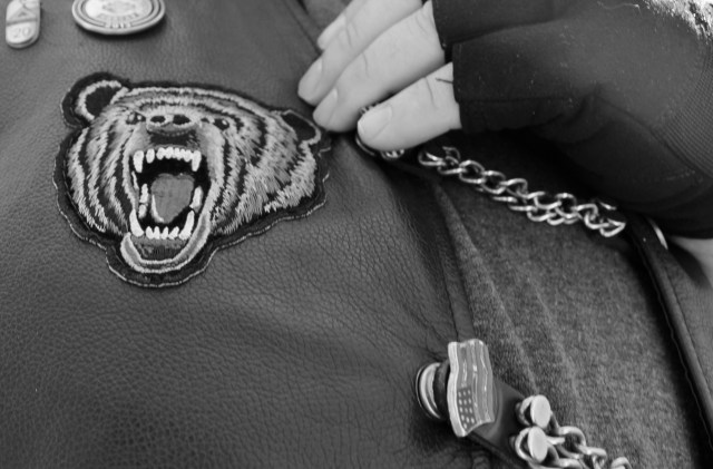 A detail of Bear's patch. [John-Henry Doucette/The Princess Anne Independent News]