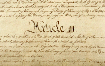 A detail of the U.S. Constitution. [U.S. National Archive]