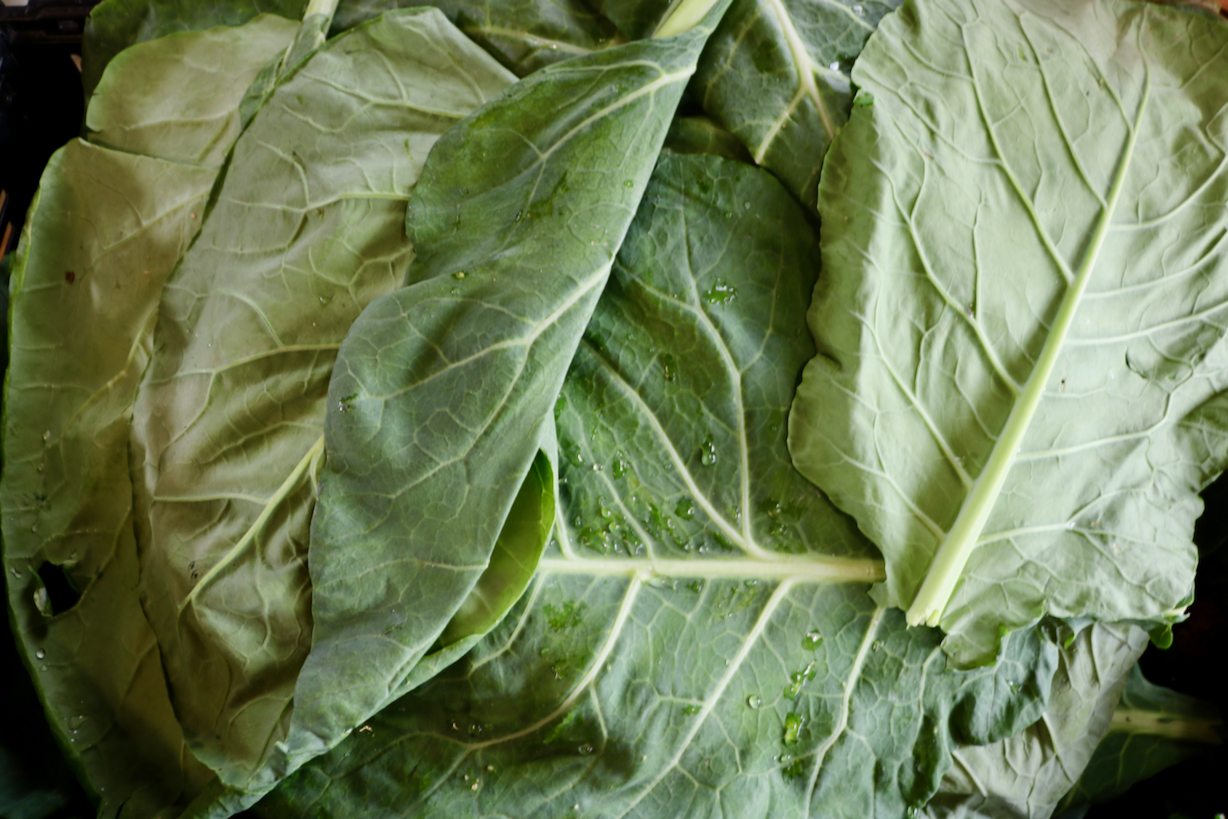 Late-year crops at local produce markets — brussel sprouts, greens, squash, even bok choy