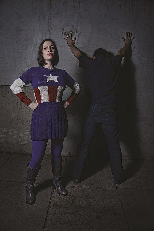 Captain America inspired Sweater