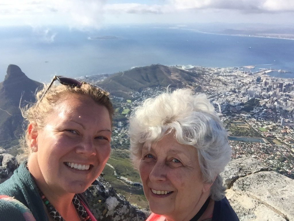 Tourists on Table Mountain