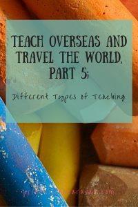 Pinterest | types of teaching overseas