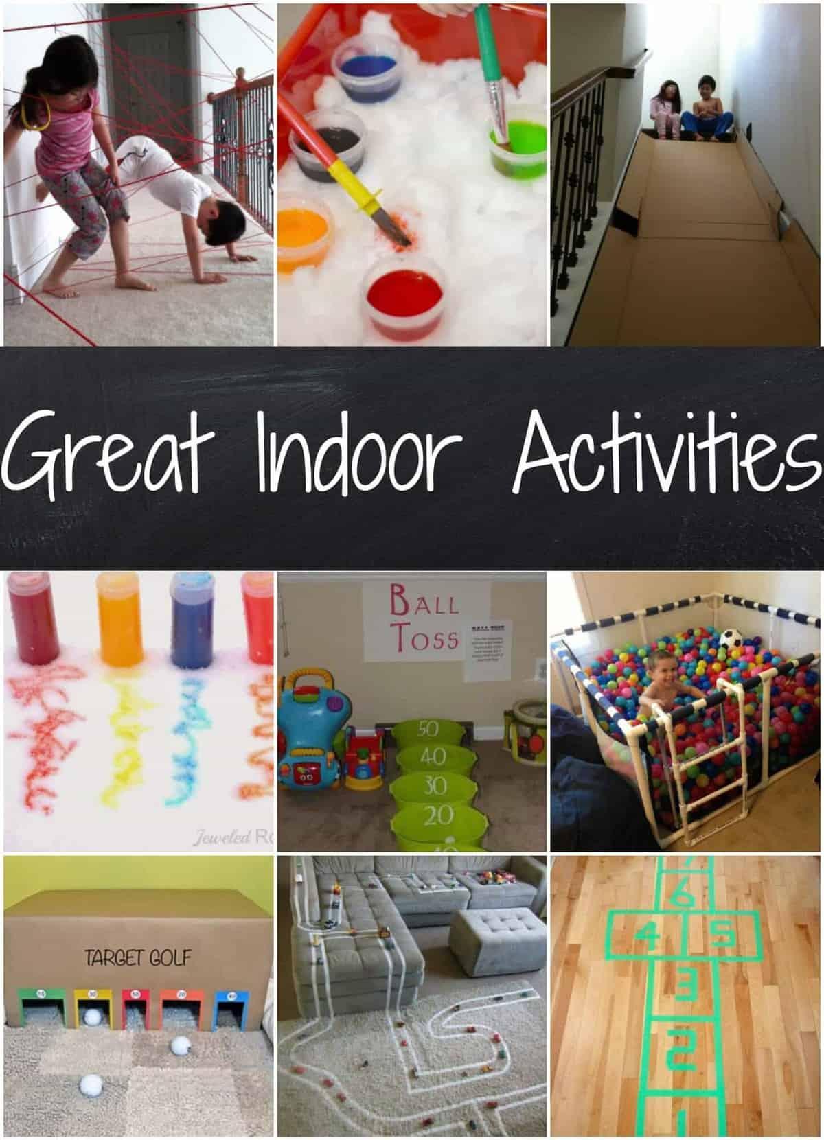 Easy Indoor Activities Rainy Day Activities Snow Day