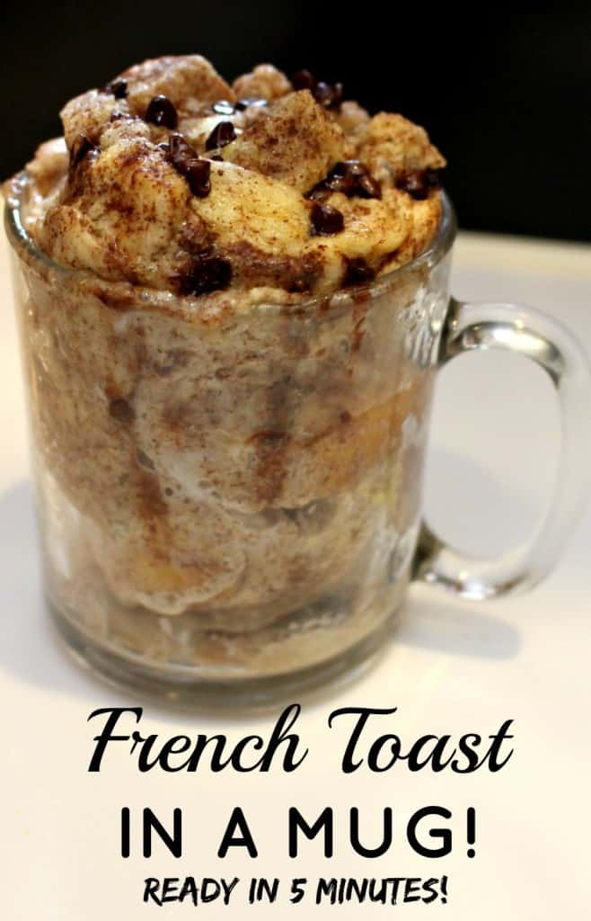 French Toast in a Mug - ready in 5 minutes!