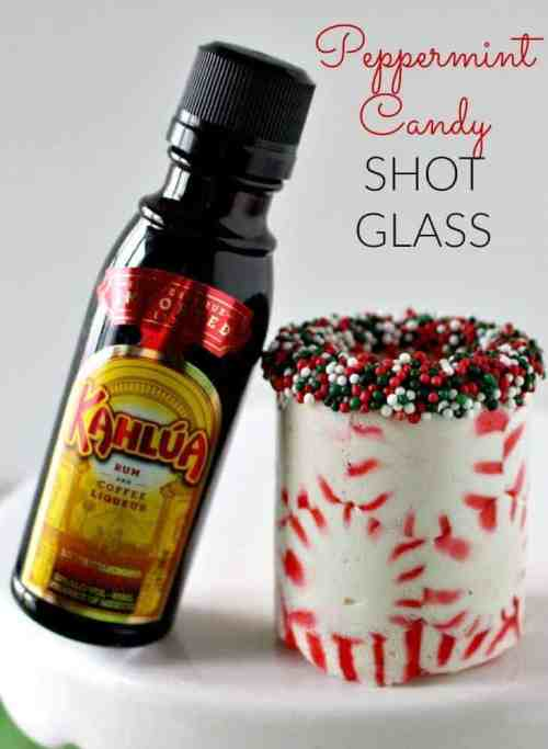 DIY Peppermint Candy Shot Glass from Princess Pinky Girl