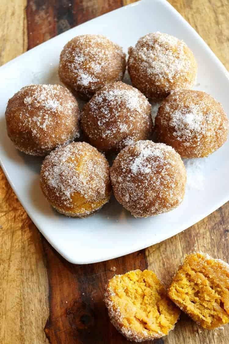 Mini Pumpkin Donut Muffins